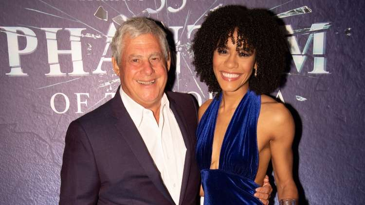 Cameron Mackintosh and Lucy St Louis (Christine Daaé)