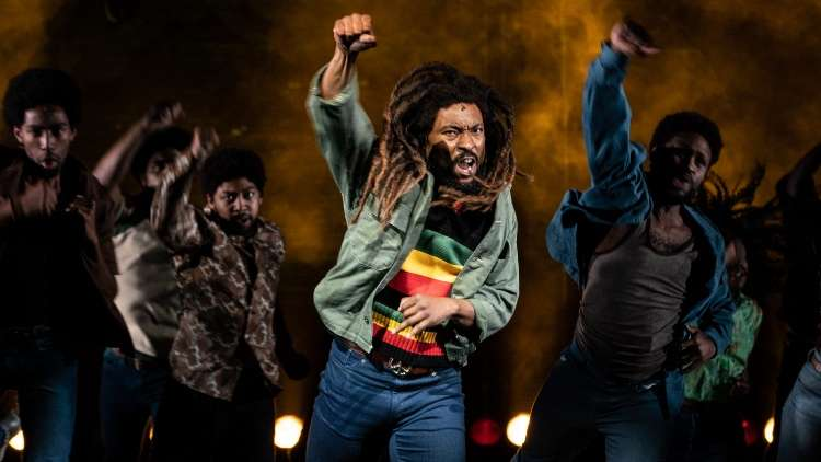 Cast of Get Up, Stand Up The Bob Marley Musical, London 2021