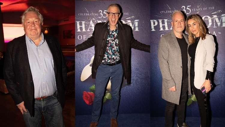 Nick Ferrari, Jeremy Vine, Chris Moyles and Tiffany Austin snapped at The Phantom of the Opera 35th anniversary performance